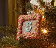 Wooden Burlap Monogrammed Ornament See how to make this ornament with Mod Podge and Collage Clay.