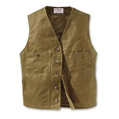 www.Filson.com | Filson Oil Tin Cloth Vest -     This heirloom-quality vest celebrates Filson history