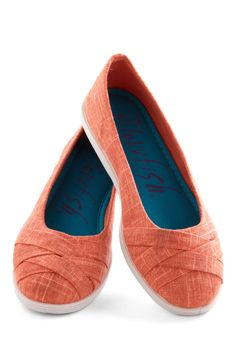 Skip in Your Step Flat in Coral, #ModCloth