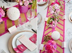 It's hot pink but it's done well. {from stylemepretty.com via Hey Look}