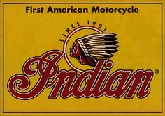 8377 - MOTORCYCLE - INDIAN - First American Motorcycle - Since 1901 - 41x29-