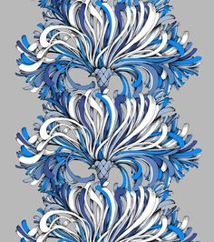 Vallila Lempi-sivuverho, sininen