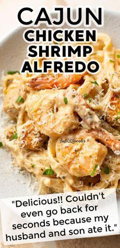 Cajun Chicken And Shrimp Alfredo Recipe, Fettucini Alfredo Recipe Shrimp, Chicken And Shrimp Carbonara, Chicken Broccoli Alfredo Pasta, Cajun Pasta Sauce, Creamy Cajun Pasta, Chicken And Shrimp Pasta, Alfredo Sauce, Fried Chicken