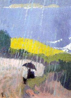 Pluie en Bretagne - Maurice Denis - 1889