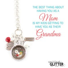 The best thing about having her as your #mom, means your children get to have her as a #Grandma. Celebrate Grandma this #MothersDay with a beautiful Floating Locket Collection by #SpilledGlitter! http://ht.ly/10sBKZ