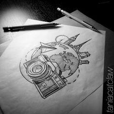#travel #ink #iblackwork #inktagram #sketch