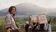 Zoologist and conservationist Dian Fossey dedicated her life to  protecting wild species. In particular she spent most of her life with  the wild gorilla in central Africa helping to raise awareness over  endangered species.
