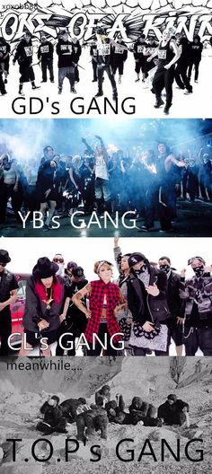 T.O.P.'s gang hasn't hit the evolutionary milestone yet lol! Doesn't stop me from wanting to join his gang though!