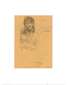 Mother and Child Art Print--i want this in my bathroom but my bathroom is too small.