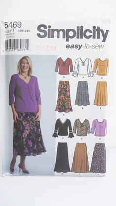 Women's Skirts and Knit Tops Easy to Sew by WitsEndDesign on Etsy