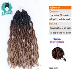 Stock Ombre Faux Locs Curly 20inch 24roots Soft Crochet Braids Dread Bohemian Gypsy Locs hair Extensions. Synthetic Hair Extensions, Synthetic Wigs, Ombre Faux Locs, Marley Braids, Crochets Braids, Jumbo Braids, Hair Weft, Color Mixing, Ponytail