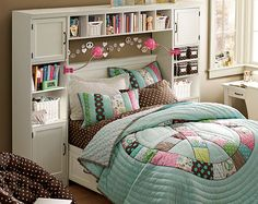 Shelving And Cabinets And Bed  They Are So Cool