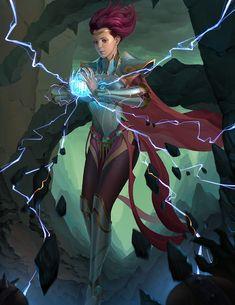 sorceress, z lx on ArtStation at https://www.artstation.com/artwork/3rw0Y