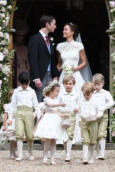 Pippa und James Matthews nach der Hochzeit