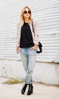 Look: Destroyed Jeans Chic - Moda it | Moda It
