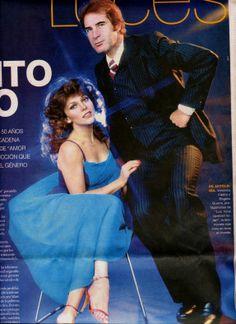 Veronica Castro con Rogelio Guerra