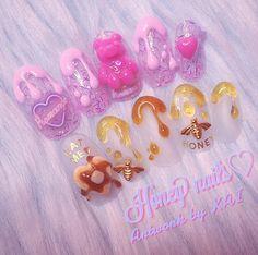 @kai32のInstagram写真をチェック • いいね!2,273件 Crazy Nail Designs, Beautiful Nail Designs, Nail Art Designs, Best Acrylic Nails, Acrylic Nail Art, Luv Nails, Dope Nails, Gorgeous Nails, Pretty Nails