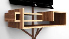 Meuble audio vidéo design en bois