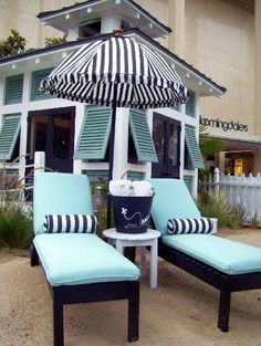 Playhouse Designs and Ideas: Big Dreams for Small Houses: Welcome to the Cabana Casa Patio, Backyard Patio, Outdoor Spaces, Outdoor Living, Outdoor Decor, Patio Cushions, Patio Furniture Cushions, White Cushions, Garden Furniture