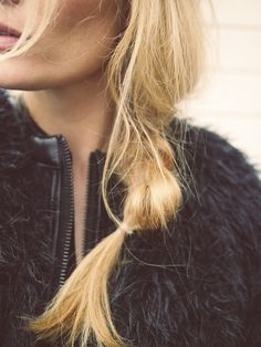 Loose low braid