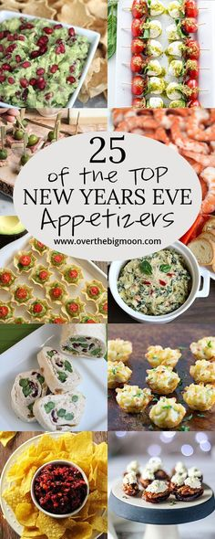 Top 25 New Years Eve Appetizers - Over the Big Moon <br> What's New Years Eve without a ton of party food! Come check out the Top 25 New Years Eve Appetizers for all the enjoy! New Years Eve Party Ideas Food, New Years Eve Menu, New Years Eve Dessert, Food For New Years Eve, New Years Eve Snacks, Ideas Party, New Years Brunch Ideas, New Year Menu, New Years Dinner