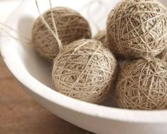 Rustic Twine Ball Ornaments - Set of 3 Ball Ornaments, Twine, Rustic, Handmade Gifts, Crafts, Holiday Decorations, Etsy, Craft Ideas, Holidays