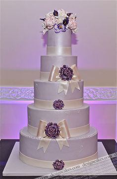 Lavender Wedding Cake by Design Cakes, via Flickr