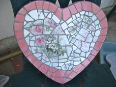"""China mosaic stepping stone """"Mother"""", available from Ada"""