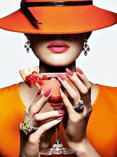 orange by quenalbertini - chic in orange - via dreamer-in-colors.tumblr...