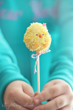Craftberry Bush - Rice Krispies Easter chick pop