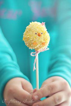 Craftberry Bush - Rice Krispies Easter chick pop