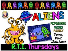 Nonsense Word Fluency 24 Hour Freebie to help with NONSENSE WORD FLUENCY Practice!  Enjoy!  Ms. Lend-a-Hand=)  May the ALIEN BE WITH YOU!