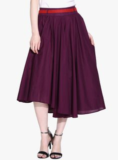 Buy Sugar Her Purple Flared Skirt for Women Online India, Best Prices, Reviews | SU903WA25EVEINDFAS