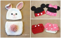 baby hat & matching diaper cover - All About Ami Crochet