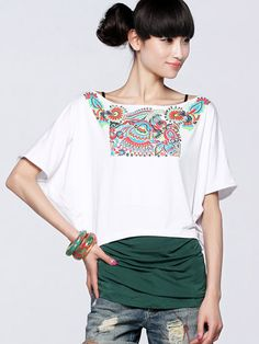 Nextwholesale.com…..new arrival…the most popular #clothing in #China,   #shirt,#dress,#pant,#tops  #Wholesale printed dolman sleeve shirts