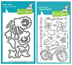 Lawn Fawn SET LF215CTL JOURNEY Clear Stamps And Dies at Simon Says STAMP!  Lawn Fawn stamps and dies    $37.99