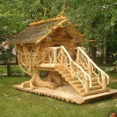 cool wooden house