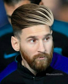 Lionel Messi Haircut Mens Hairstyles Haircuts - While The Footballers On Field Skill Makes Him One Of The Best And Most Famous Soccer Players The World Has Ever Seen Lionel Messis Haircut Seems To Be A Point Of Interest Among Fans As Bride Hairstyles, Hairstyles Haircuts, Lionel Messi Haircut, Messi Beard, Cr7 Junior, Messi Fans, Lionel Messi Wallpapers, Mens Hair Colour, Color Beard
