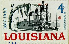 stamp USA 4c United States of America Louisiana 1812 1962 4c cent Paddle steamer - Flickr - Photo Sharing!