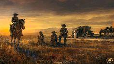 wild west by ivelin on DeviantArt Western Games, Western Film, Best Western, Western Cowboy, Skull Wallpaper, Hd Wallpaper, Desert Diorama, Western Photography, Saloon