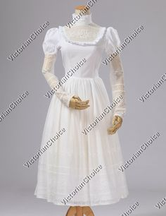 Edwardian Ruffle Lace Dress Ball Gown Reenactment Halloween Stage Costume
