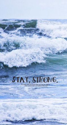 Stay Strong. Simple but beautiful iPhone Quotes wallpapers - @mobile9 #typography #quotes