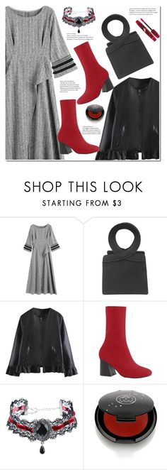 """""""Embellished Striped A Line Dress"""" by duma-duma ❤ liked on Polyvore featuring Rituel de Fille and Physicians Formula"""