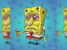 Personagens de desenhos animados antes de seu café matinal. ~ Lunáticos