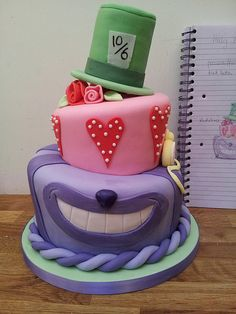 Topsy turvy Alice in Wonderland cake.  I want this for my birthday next year