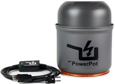The PowerPot is a cooking pot that doubles as a portable electric generator. Charge your smartphone on the campfire.