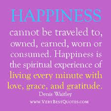 happiness comes from being grateful