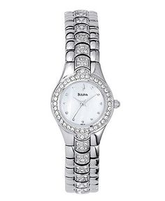 Bulova Watch, Women's Crystal Stainless Steel Bracelet 22mm 96T14 - Women's Watches - Jewelry & Watches - Macy's