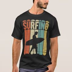 Surfing Vintage T-Shirt - tap to personalize and get yours