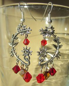 Handmade Silver Plated Abstract Dangle Earrings by Pizzelwaddels, $19.97